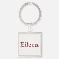 Eileen Pink Flowers Square Keychain