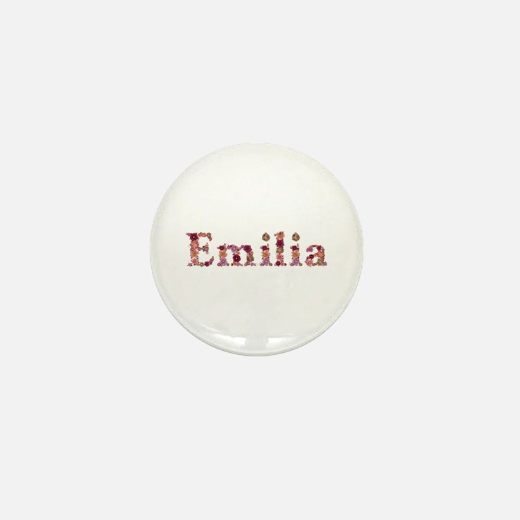 Emilia Pink Flowers Mini Button