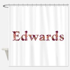 Edwards Pink Flowers Shower Curtain