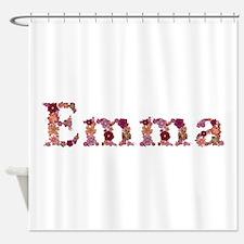 Emma Pink Flowers Shower Curtain