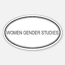 WOMEN GENDER STUDIES Oval Decal