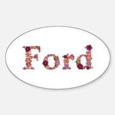 Ford Pink Flowers Oval Decal