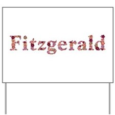 Fitzgerald Pink Flowers Yard Sign