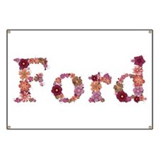 Ford Pink Flowers Banner