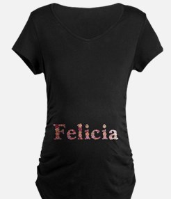 Felicia Pink Flowers T-Shirt