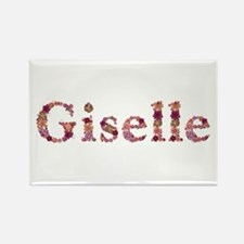 Giselle Pink Flowers Rectangle Magnet