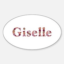 Giselle Pink Flowers Oval Decal