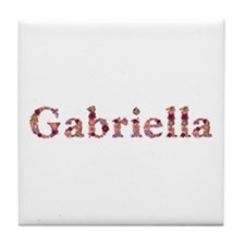 Gabriella Pink Flowers Tile Coaster
