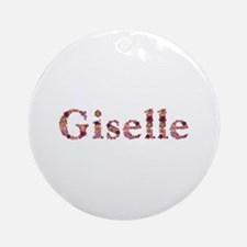 Giselle Pink Flowers Round Ornament