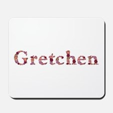 Gretchen Pink Flowers Mousepad