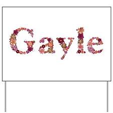 Gayle Pink Flowers Yard Sign
