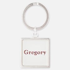 Gregory Pink Flowers Square Keychain