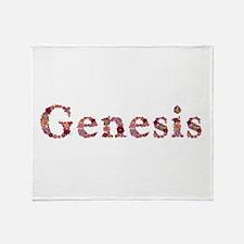 Genesis Pink Flowers Throw Blanket