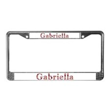 Gabriella Pink Flowers License Plate Frame