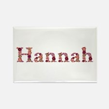Hannah Pink Flowers Rectangle Magnet