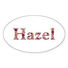 Hazel Pink Flowers Oval Decal