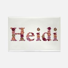Heidi Pink Flowers Rectangle Magnet