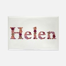 Helen Pink Flowers Rectangle Magnet