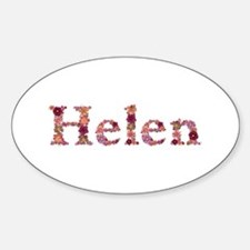 Helen Pink Flowers Oval Decal