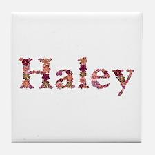 Haley Pink Flowers Tile Coaster