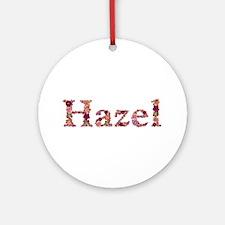 Hazel Pink Flowers Round Ornament