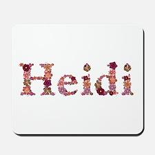 Heidi Pink Flowers Mousepad