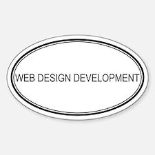WEB DESIGN DEVELOPMENT Oval Decal