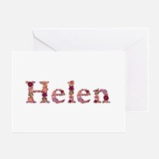 Helen Pink Flowers Greeting Card