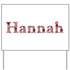 Hannah Pink Flowers Yard Sign