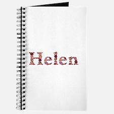 Helen Pink Flowers Journal