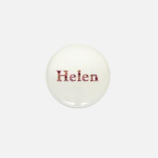 Helen Pink Flowers Mini Button