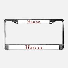 Hanna Pink Flowers License Plate Frame