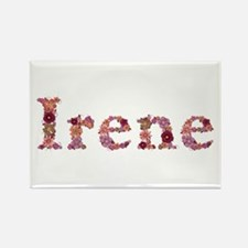 Irene Pink Flowers Rectangle Magnet