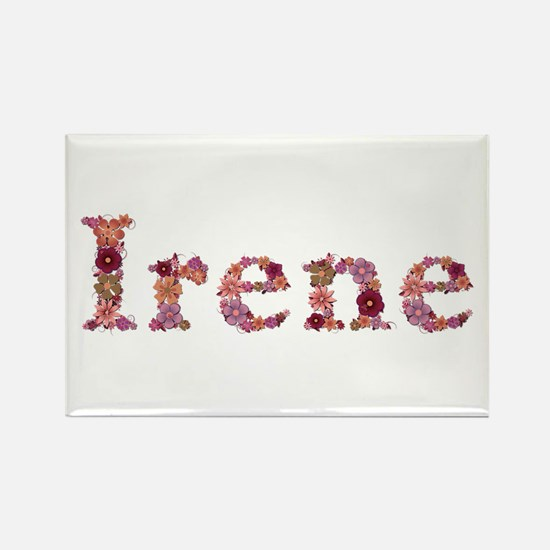 Irene Pink Flowers Rectangle Magnet