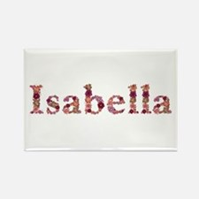 Isabella Pink Flowers Rectangle Magnet
