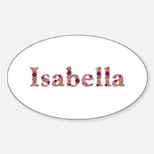 Isabella Pink Flowers Oval Decal
