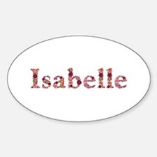 Isabelle Pink Flowers Oval Decal