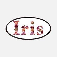 Iris Pink Flowers Patch