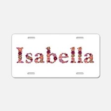 Isabella Pink Flowers Aluminum License Plate
