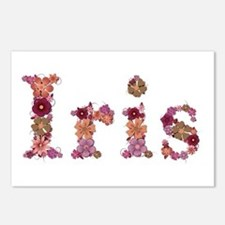 Iris Pink Flowers Postcards 8 Pack