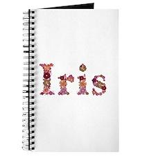 Iris Pink Flowers Journal