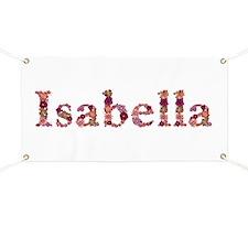 Isabella Pink Flowers Banner
