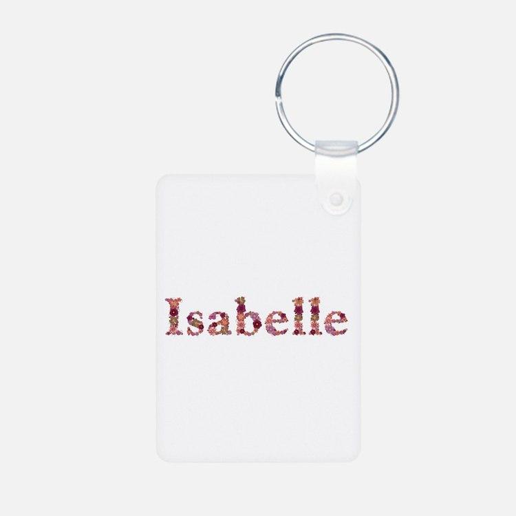 Isabelle Pink Flowers Aluminum Keychain
