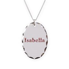 Isabella Pink Flowers Oval Necklace