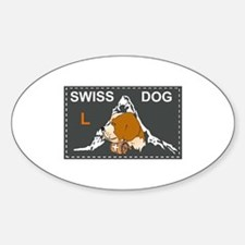 Label swiss dog 3 Oval Decal