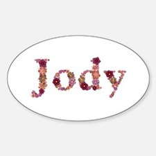 Jody Pink Flowers Oval Decal