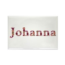 Johanna Pink Flowers Rectangle Magnet