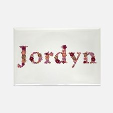 Jordyn Pink Flowers Rectangle Magnet