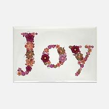 Joy Pink Flowers Rectangle Magnet