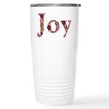 Joy Pink Flowers Travel Coffee Mug